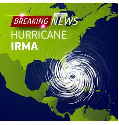 breaking news tv realistic hurricane cyclone vector image