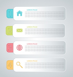 Business infographics tabs template for presentati vector