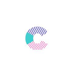 c geometric letter logo icon design vector image