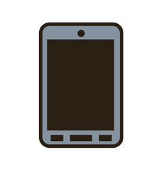 cartoon smartphone technology communication call vector image