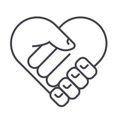 charitysupport head heart shapemedicine vector image