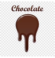 chocolate drip splash liquid blot isolated white vector image