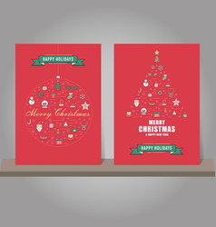 christmas greeting card or invitation background vector image