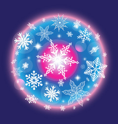 color christmas winter pattern vector image