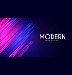 Colorful motion striped effect with light vector
