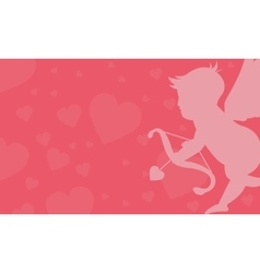 Cupid valentine backgrounds vector