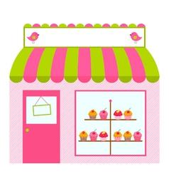Cute shop or cafe design vector