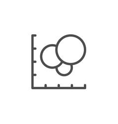 Diagram line icon vector