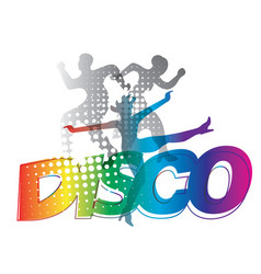 disco dance silhouettes vector image