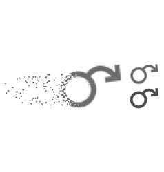 Disintegrating pixel halftone sexual impotence vector
