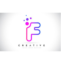 Dots letter f logo f letter design with dots vector