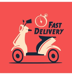 Fast and free delivery cartoon vector