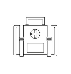 First aid kit medical icon isolated vector