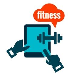 Fitness icon vector