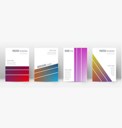 Flyer layout geometric exquisite template for bro vector