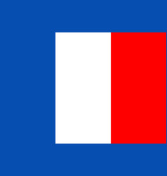 france flag icon french button for national vector image