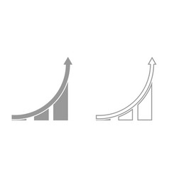 graph it is black icon vector image