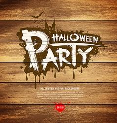 Halloween party message design vector