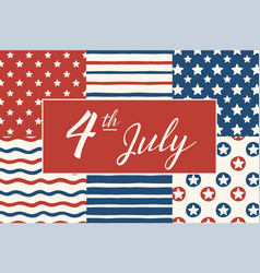 happy independence day 4th of july vector image