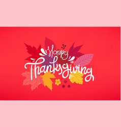 Happy thanksgiving day concept vector