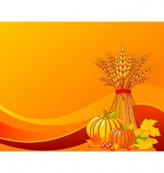 harvest background vector image