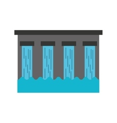 hydroelectric dam isolated icon vector image