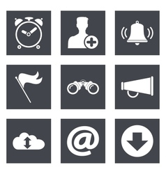 Icons for Web Design and Mobile Applications vector image