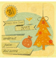 Invitation to the New Year Party vector image