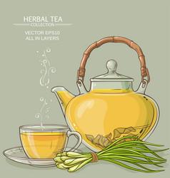 Lemongrass tea vector