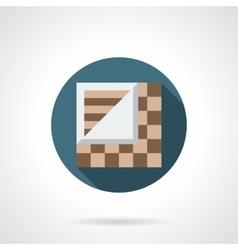 Linoleum store round flat icon vector