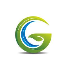 little gc green logo concept vector image