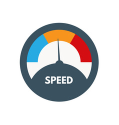Loading speed gauge vector
