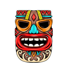 Mask inspiration with blue nose for party vector