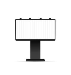 mechanical billboard mockup isolated vector image