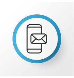 Mobile mailing icon symbol premium quality vector