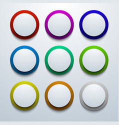 modern colorful circle icon set vector image