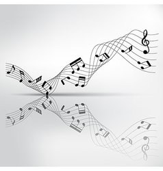 musical chord and reflection on shadow background vector image