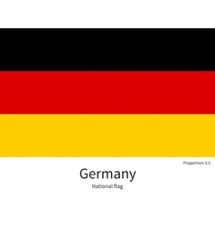 National flag of Germany with correct proportions vector