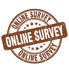 online survey brown grunge round vintage rubber vector image