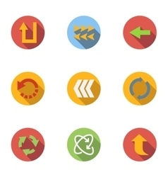 Pointer of computer icons set flat style vector