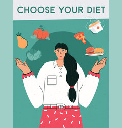 poster choose your diet concept vector image