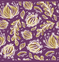 Pretty tossed leaves pattern seamless repeating vector