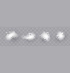 realistic bath foam lather effect soap bubbles vector image