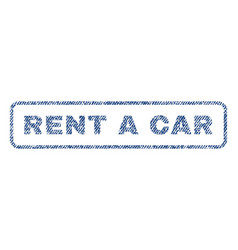 Rent a car textile stamp vector