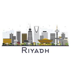 riyadh saudi arabia city skyline with gray vector image