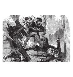 robinson crusoe vintage vector image