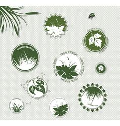 Set botany badges vector