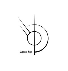 Sigil for protection wiccan symbolisms sign vector