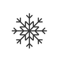 snowflake thin line icon new year celebration vector image