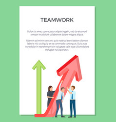 teamwork visualization vector image